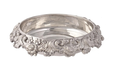 A late George III silver dish holder from an epergne