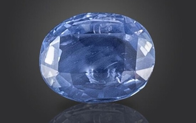 A loose oval-shaped sapphire, 8.41cts Accompanied by report...