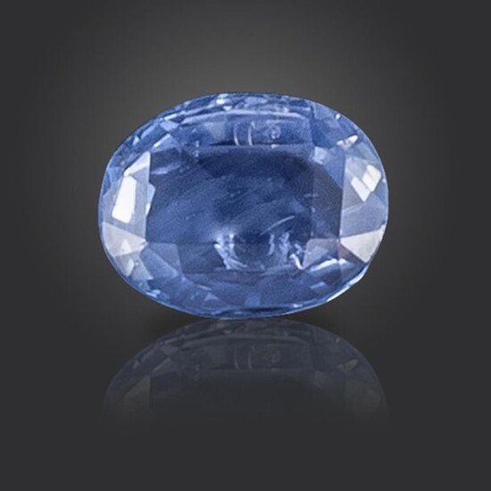 A loose oval-shaped sapphire, 8.41cts Accompanied by report number 80260-50 dated 18 March 2020 from GCS, stating that the cushion-cut sapphire weighs 8.41cts and is a natural sapphire with no indications of heat treatment. Origin: Sri Lanka (Ceylon)