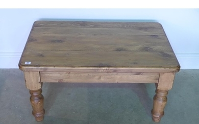 A rustic coffee table - 90cm wide
