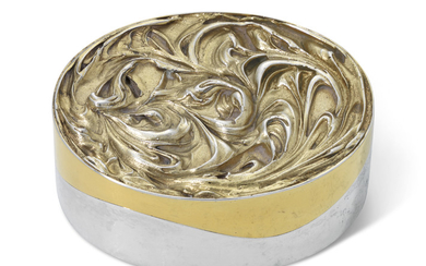 AN ELIZABETH II PARCEL-GILT SNUFF-BOX, MAKER'S MARK S. D'AW, LONDON, 1981