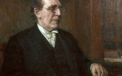 """American School, """"Portrait of a Man with Spectacles,"""""""