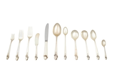 An American Silver Flatware Set for Twelve