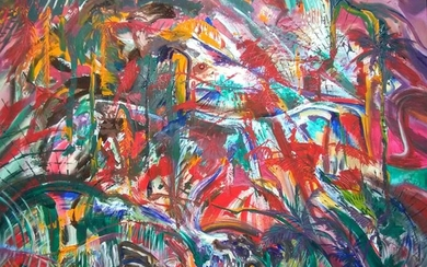 Anthony Best, Jungle Abstract, Acrylic Painting