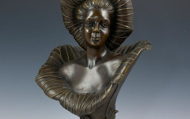 Art Nouveau Liberty Co. Bronze Bust