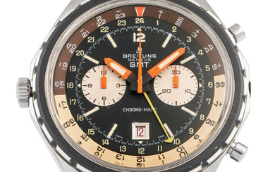 BREITLING, REF. 2115, GMT, CHRONO-MATIC, STEEL