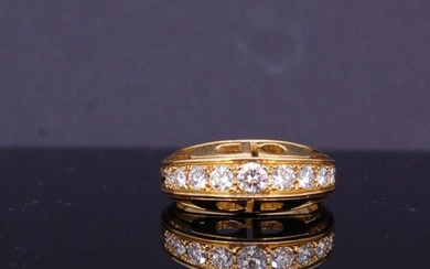 CHRISTIAN DIOR, DIAMOND RING, set with a row...
