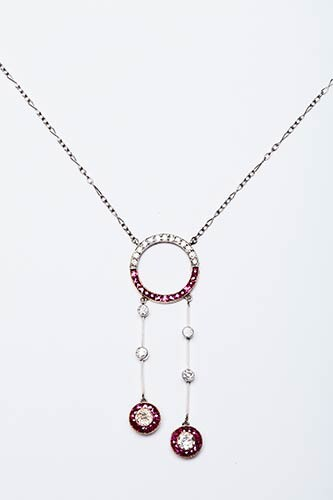 COLLIER IN PLATINUM AND GOLD Handmade necklace made in Italy...