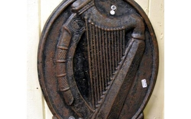 Cast iron wall plaque with Harp symbol and 'EIRE' under