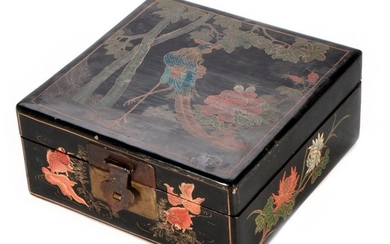 Chinese black lacquer box.