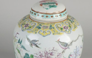 Chinese porcelain ginger jar with Family Rose / floral