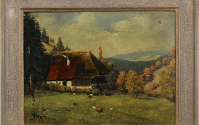 European School, Signed Painting of Countryside