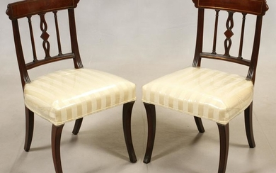 FEDERAL STYLE MAHOGANY SIDE CHAIRS, C. 1940