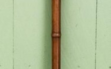 Faux Bamboo & Carved Antler Cane / Walking Stick