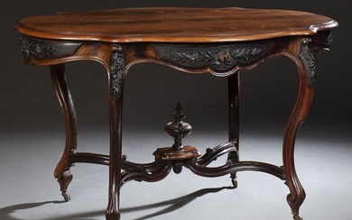 French Louis XV Style Rosewood Grained Walnut Center