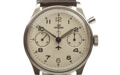GENTLEMAN'S LEMANIA MILITARY ISSUE STAINLESS STEEL MANUAL WIND WRIST...
