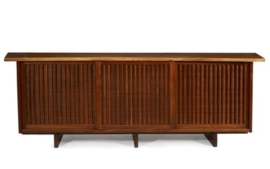 """George Nakashima (American, 1905-1990) A Special """"Triple Cabinet with..."""