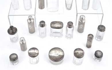 Group of Sterling Silver, Silver Plated and Glass Dresser Articles