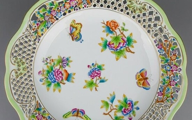 Herend Queen Victoria Large Reticulated Wall Plate
