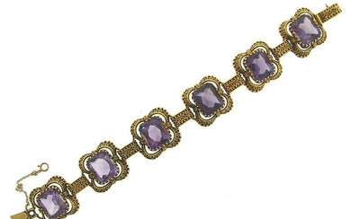 INTRICATE PRETTY Victorian Etruscan Revival 14k Yellow