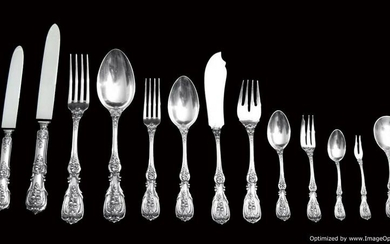 """ITALIAN 206pc. ANTIQUE """"FRANCES 1"""" STERLING SILVER"""