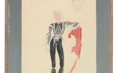Oliver Hilary Sambourne Messel (1904-1978), Costume design for Leslie Howard, as Romeo at Sycamore Grove, for the Goldwyn-Mayer production of Romeo and Juliet, 1936