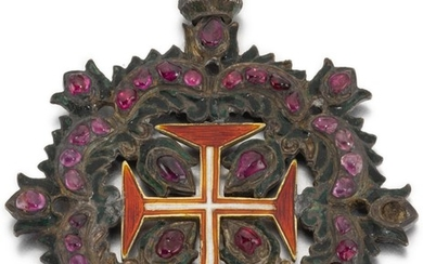 PROBABLY SPANISH, CIRCA 1700   Pendant with the Cross of the Military Order of Christ