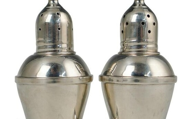 Pair Of Silver Overlay Salt and Pepper Shakers