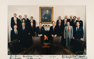 Ronald Reagan and Cabinet Signed Photograph