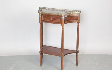 SMALL DESERted CONSOLE with concave sides, Louis XVI...