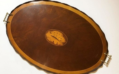 Sheraton-Style Inlaid Oval Tray