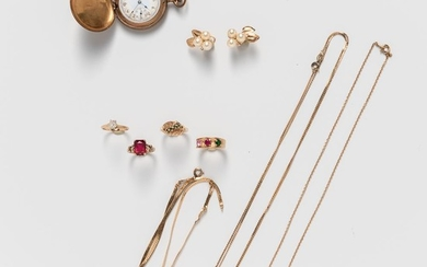 Small Group of Mostly 14kt Gold Jewelry