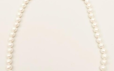 South Sea Long Strand Pearls with 18k and Diamond Clasp