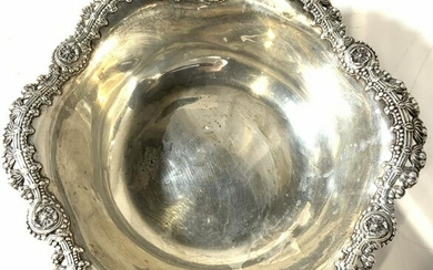 TIFFANY & CO Sterling Silver Floral Bowl