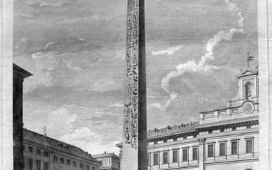 The Egyptian Obelisk at Piazza Montecitorio in Roma