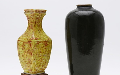 Two Chinese porcelain vases, second half of the 20th Century.