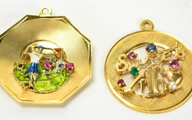 Vintage 14kt Yellow Gold Charms or Pendants