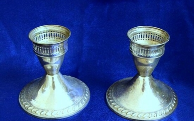 Vintage Pair of Duchin Creation Sterling Silver Candle