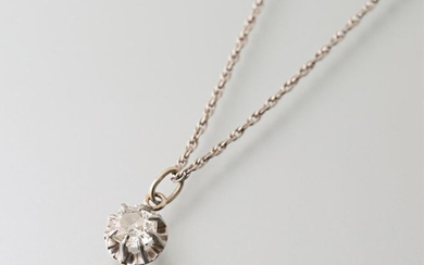 White gold twisted link chain and a pendant...