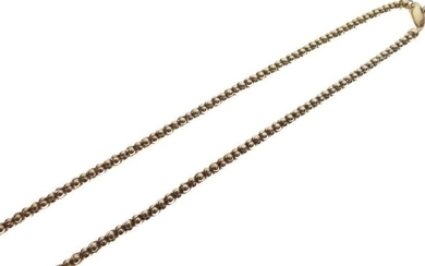 Yellow metal fancy-link necklace stamped 14k, 9.7g approx