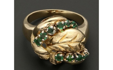 14 kt. Gold - Ring Emerald