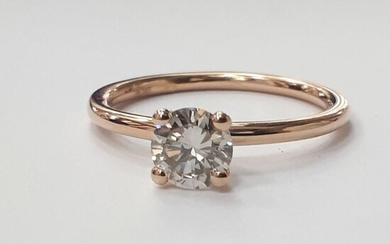 14 kt. Pink gold - Ring - 0.64 ct Diamond