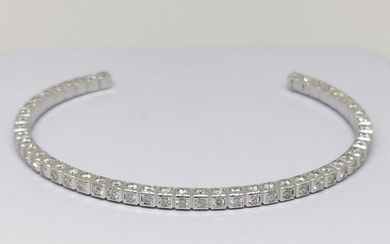 14 kt. White gold - Bracelet - 4.00 ct Diamond - D VS1