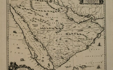 1660 Jansson Map of the Arabian Peninsula and Red Sea