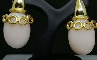 18 kt. Gold - Earrings coral