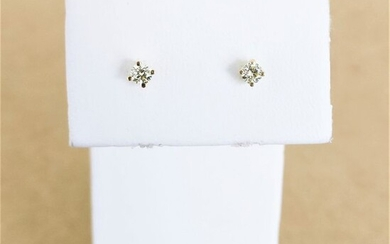 18 kt. Yellow gold - Earrings - 0.19 ct Diamond