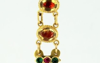 18 kt. Yellow gold - Pendant Citrine - Paste