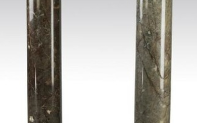(2) Continental marble columns with bronze capitals