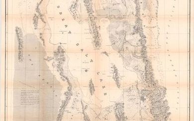 """""""[2 Maps in Report] Map of the Great Salt Lake and Adjacent Country in the Territory of Utah [and] Map of a Reconnaissance Between Fort Leavenworth ... and the Great Salt Lake... [with Report] An Expedition to the Valley of the Great Salt Lake..."""",..."""