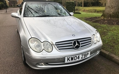 2004 MERCEDES-BENZ CLK 240 ELEGANCE AUTO REGISTRATION NO: KW...